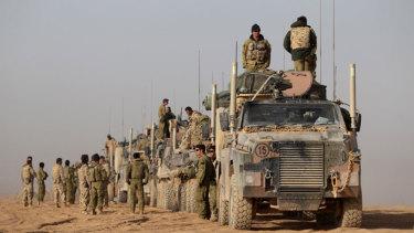 Australian troops in Afghanistan.