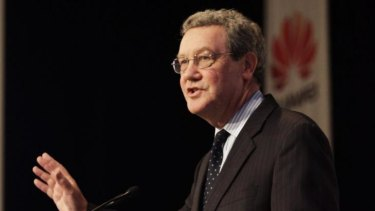 Former Liberal minister Alexander Downer was on the Huawei board.