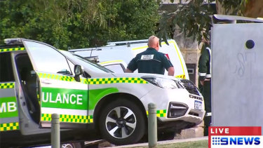 Police, ambulances and a fire crew rushed to the luxury Mosman Park mansion where Paul Whyte lives.