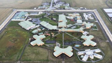 An aerial view of Barwon Prison near Geelong. The state government will build another prison nearby.