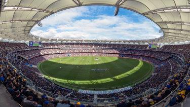 Perth's $1.8 billion Optus Stadium.