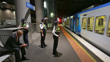Protective Service Officers at Southern Cross Station.