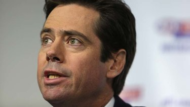 Gillon McLachlan has apologised to footy fans over security concerns.