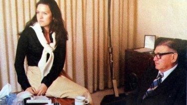 Gina Rinehart with her father Lang Hancock.