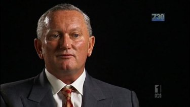 Stephen Dank on ABC TV's 7.30.