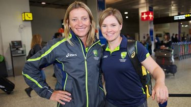Australian fast-bowling great Cathryn Fitzpatrick (left).