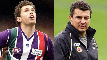 Justin Longmuir and Peter Sumich are favourites to replace Ross Lyon as senior coach of the Fremantle Dockers.