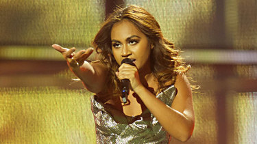 Jessica Mauboy of Australia performs during the second Semi Final of the Eurovision Song Contest 2014 in Copenhagen.