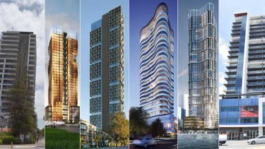 Some of the towers already built or proposed.