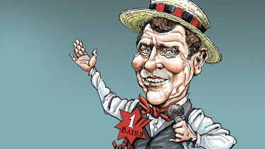 Former NSW premier Mike Baird,  now tipped to be next the CEO of NAB.