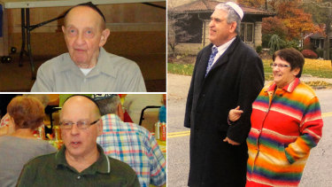 Victims of the Pittsburgh synagogue massacre: Clockwise from main: Cecil Rosenthal with an unidentified woman, Danny Stein and Melvin Wax.
