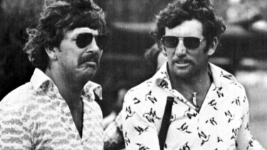 Rod Marsh, left, and Ian Chappell on the golf course in 1976.