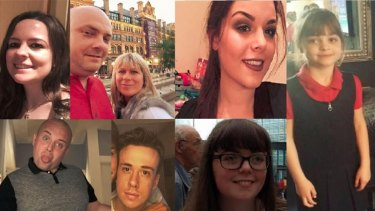 Some of the victims of the Manchester Arena bombing.