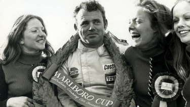 Glory days … Bob Jane after winning the 1972 Australian Touring Car Championship.