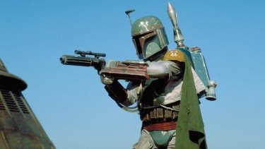 The bounty hunter Boba Fett, who is expected to appear in the second season of The Mandalorian.