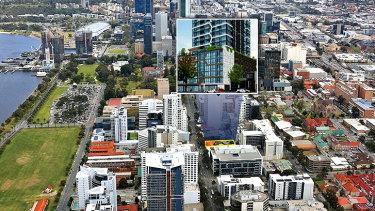 The proposed Finbar development on 240 Adelaide Terrace.
