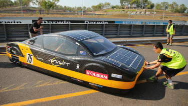 Vehicle-integrated solar PV cars, as this one from UNSW, have been tested for years, including during the annual World Solar Challenge from Darwin to Adelaide.