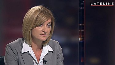 Detective chief inspector Pamela Young during the controversial ABC interview in April 2015.