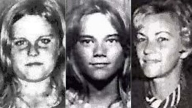 Barbara McCulkin (right) and her daughters Vicky (left) and Leanne (centre) disappeared from their Highgate Hill home in Brisbane on January 16, 1974.
