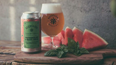 The Watermelon and Basil Sour is Beerfarm's latest brew in its Save the Harvest series.