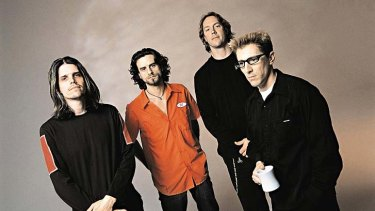 The band Tool: (from left) Adam Jones, Justin Chancellor, Danny Carey and Maynard James Keenan.