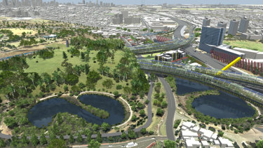 How the East West Link could look.