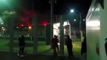 "Detainees have described the riots at the West Australian detention centre as ""extremely frightening""."