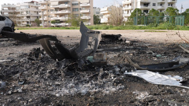 The site in Athens where Amad Malkoun's car exploded.