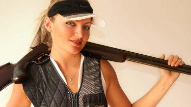 Clay shooting champion, Anna Shedrina.