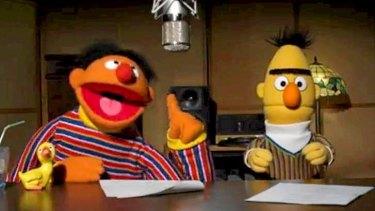 Sesame Street characters Ernie and Bert.