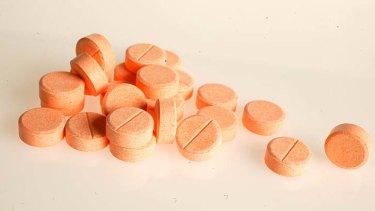Vitamin C tablets.