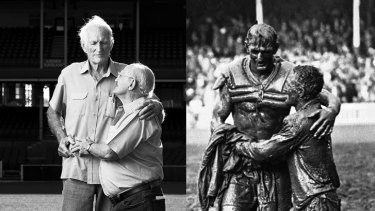 Norm Provan and Arthur Summons re-creating their famous pose.