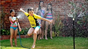 The drought means children will be barred from playing under sprinklers during the hot summer months.