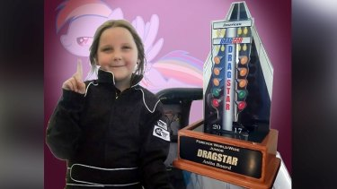 Drag racer Anita Board was only eight when she died after a crash in Perth.