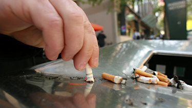 Public smoking will be banned in North Sydney's CBD.