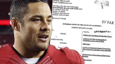 Jarryd Hayne has settled in civil lawsuit in the US, related to an alleged rape in San Jose in 2015.