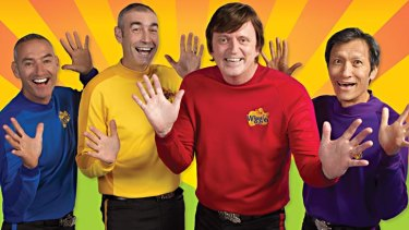 The original line-up of the Wiggles (from left):  Anthony Field, Greg Page, Murray Cook and Jeff Fatt