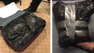 Bags of cocaine allegedly found on the cruise ship Astor.