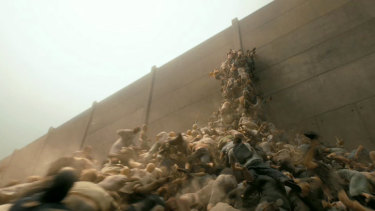 The terrifying swiftness with which the zombies scaled this wall made World War Z a memorable exercise in terror.