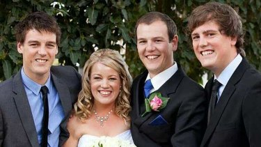 Tom Crawford (far right) with his brothers Andrew, Jonathon and their sister Kath.