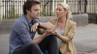 Patrick (Matthew Le Nevez)  and Nina (Asher Keddie) moments before his death in Offspring.