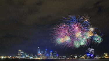 City of Perth's annual Australia Day Skyworks on the Swan River always draw large crowds.