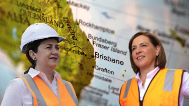 Queensland Premier Annastacia Palaszczuk and Opposition Leader Deb Frecklington.