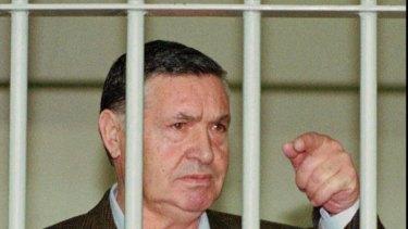 Mafia boss Salvatore Riina during his trial in 1993.