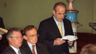 Eddie Obeid was sworn in to Bob Carr's cabinet in 1999, but by 2003 Carr was asking him to leave.