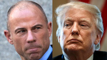 Michael Avenatti, left, whose cllients' lawsuits have pitted him against Donald Trump, has said he is considering running for US president in 2020.
