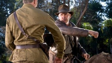 Harrison Ford as Indiana Jones in Kingdom of the Crystal Skull.