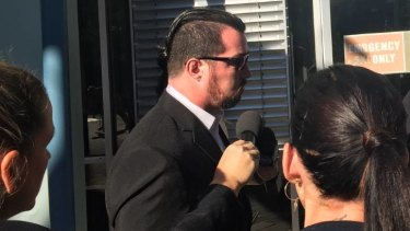 Brendan Leigh Russell outside court in 2018.