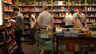 Shoppers in Sydney's Kinokuniya.