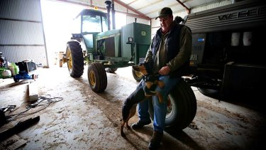 Farmer David Drage says the Chinese tariffs have come just as bumper winter crops are on the way.